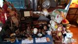 Miscellaneous Asian figurines, jewelry boxes, pinecones and stuft to animals