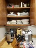 Aroma Rice Cooker, Breville Pressure Cooker, Pots, Pans and other Assorted Kitchen Supplies