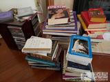 Assorted Books, CDs and a CD Stand