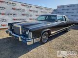 1977 Lincoln Continental Town Coupe, Black