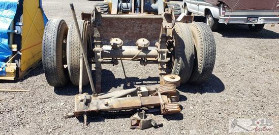 Semi trailer axle and landing gears
