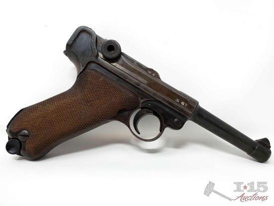 WWII Nazi 1940-42 Code Mauser Luger 9mm Semi-Auto Pistol, CA Transfer Available