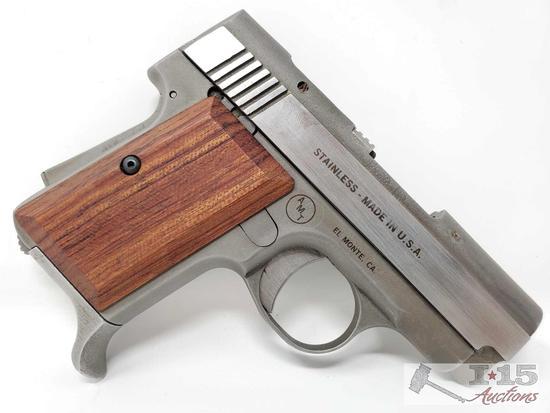 AMT Back Up 9mm Semi Auto Pistol, CA Transfer Available