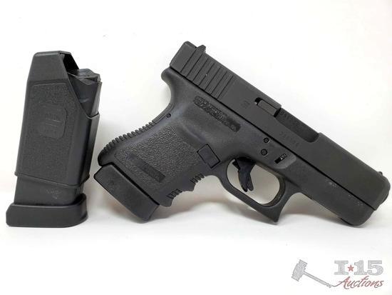 Glock 30 45mm Semi Auto Pistol 2 Mags, CA Transfer Available