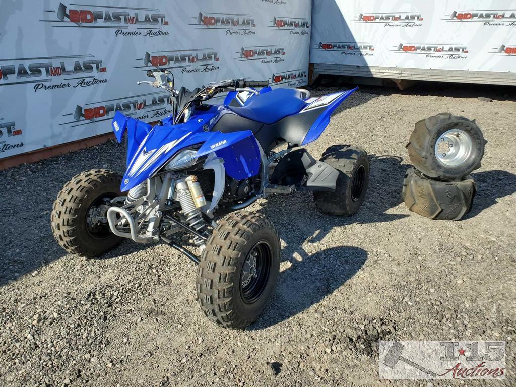 2009 Yamaha YFZ 450R Quad, Blue/ Black/ White