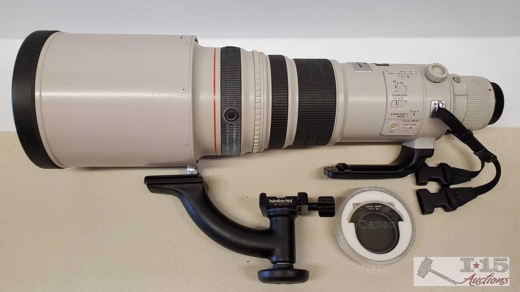Canon EF500mm f/4 L IS USM Set w/ Canon Hard Travel Case