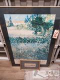 Large Print of Van Gogh in Arles amd small Painting of Ducks