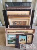 Thirteen Pieces of Various Sized Wall Art, 6th Infantry Division Book