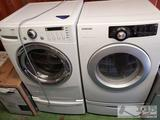LG Tromm Front Load Steam Washer and Samsung Sensor Dry Front Load Dryer