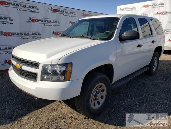 2013 Chevrolet Tahoe, White, CURRENT SMOG