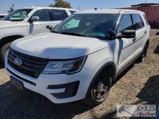 2016 Ford Explorer, White, This will be sold on NON OP. Buyer responsible for smog