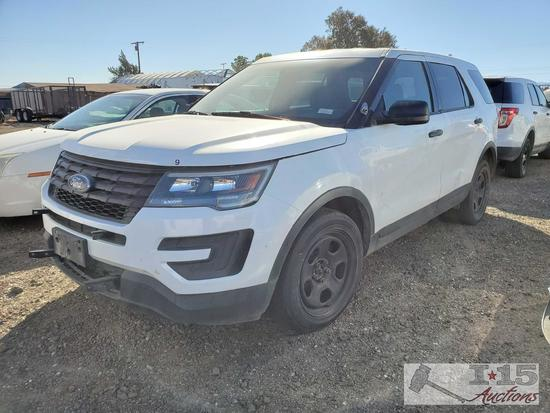 2016 Ford Explorer, White This will be sold on NON OP. Buyer responsible for smog