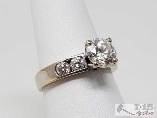18k Gold 1ct Round Cut Diamond Channel Set Ring, 4.2g
