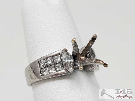 .950 Platinum Channel Set Diamond Setting, 5.4g
