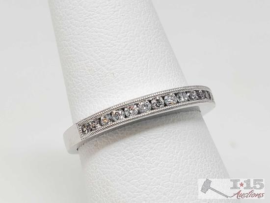 .950 Platimun Channel Set Diamond Band with Appraisal, 5.3g