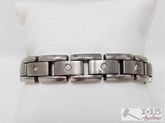 Titanium Diamond Bracelet, 33g