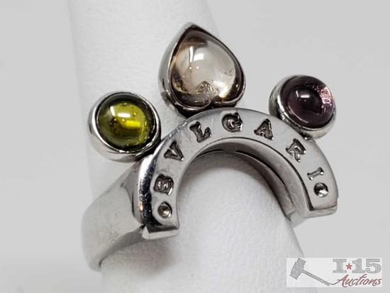 18k Gold Bvlgari Ring, 10.3g