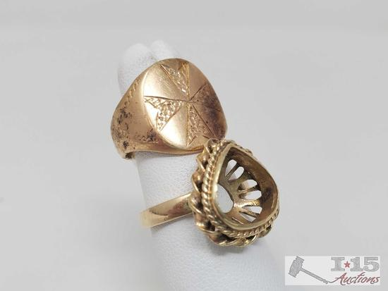 Two 18k Gold Rings, 12.9g