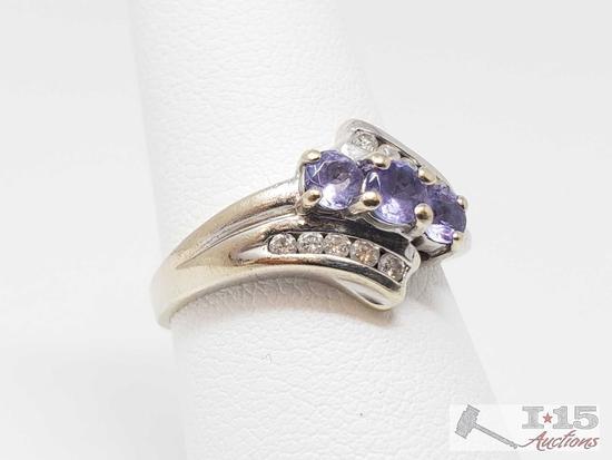 14k Diamond Ring, 4.6g
