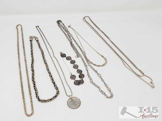 Sterling Silver Chains, 190g