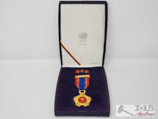 Vintage 1988 Olympics Seoul Korea Commemorative Medal