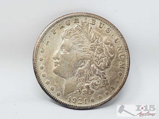 1921 Morgan Silver Dollar San Fransico Mint