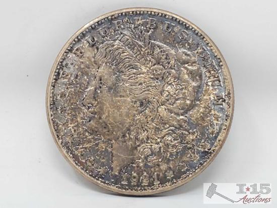 1921 Morgan Silver Dollar Denver Mint