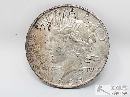 1934 Peace Silver Dollar Denver Mint