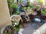 Lot of Approx 15 Love Potted Plants and Garden Statuary