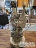 Asian Decorative Lady Playing Instrument
