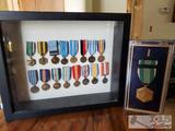 Commemorative War Medals, Army Commendation Medal in Case and More