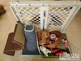 Lot of Misc. Cat Toys, Play Pedestals and Door Gate