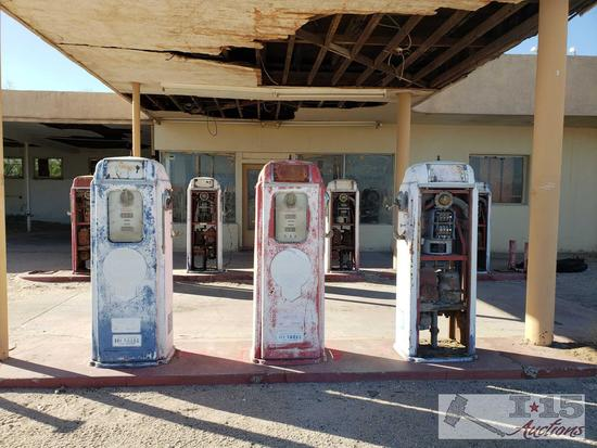 7 National Gas Pumps All Appear to Model 64 B