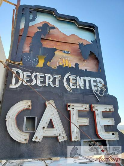 Desert Center Cafe Double Sided Neon Sign