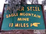 Kaiser Steel Eagle Mountain Mine Large Double Sided Porcelain Sign