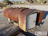 Antique Tank with Storage Cabinet