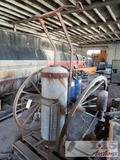 Vintage Fire Extinguisher w/ Wagon wheels