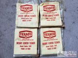 4 Vintage Texaco Hand Cloth's