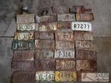 31 Vintage Various-States License Plates