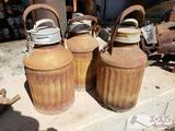 3 Shields, Harper Co. Milk 5 Gallon Cans