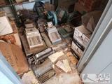 8 Vintage Cash registers and 2 vintage Printing machines