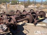 2 sets of Southern pacific rail wheels