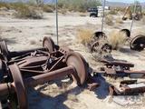 Two sets of Rail car wheels