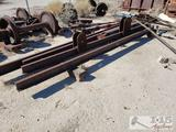 Approx. Six Pieces of Iron Beams and Track