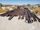 Approx. 37 Railroad Track Rails