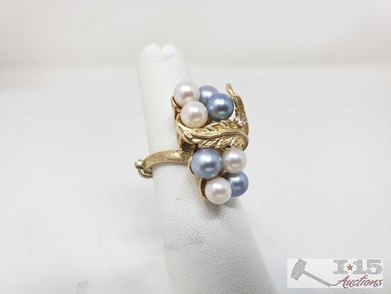 14k Gold Pearl Ring, 9.4