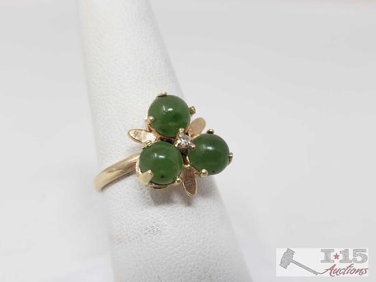 14k Gold Diamond Ring,3.8