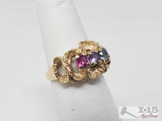 14k Gold Birthstone Ring, 4.2