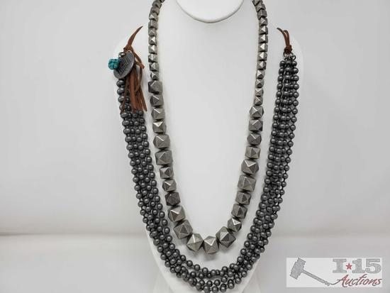 1 costume Necklace Brand Gypsy Soule and 1 handmade Necklace