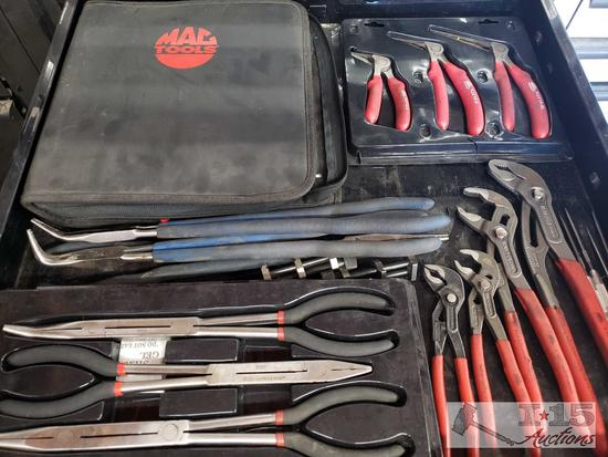 Mac Tools, Gear Wrench, and Knipex Pliers